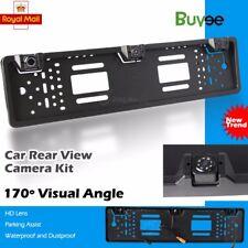 Car Rear Number Plate Frame + 3 Reversing Parking Sensor +170° Camera System Kit