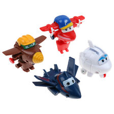 4Pcs Mini Super Wings Robot Airplane Transformer Animation Character Kids Toy US
