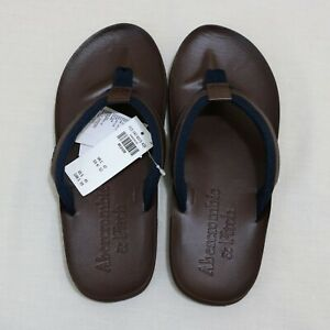 Abercrombie & Fitch Men Faux Leather Flip Flop size M , L new with tags