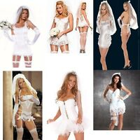 SEXY WOMENS LADIES  BRIDE TO BE HEN PARTY FANCY DRESS DOO LINGERIE WEDDING NIGHT