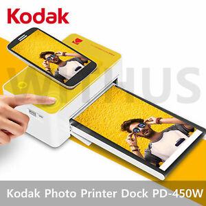 "Kodak Photo Printer Dock Wi-Fi Photo Size:4*6"" PD-450W For Android / IOS"