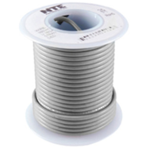NTE Electronics WHS26-08-500 HOOK UP WIRE 300V SOLID 26 GAUGE GREY 500'