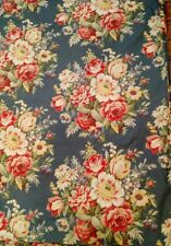 Ralph Lauren KING gray blue floral chintz duvet cover with 2 std pillow shams K