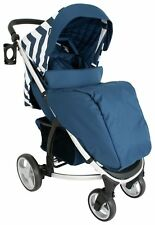 My Babiie Blue Chevron Mb200 Pushchair Compact Stroller With Raincover