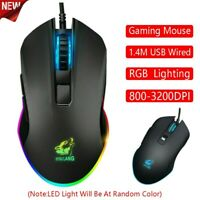 3200DPI RGB Light 6 Buttons USB Wired Gaming Mouse Laptop Mice PC Computer Mouse
