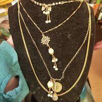 Art deco multi strand necklace