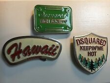 Dsquared 2 Belt Buckles set of 3... buckles only
