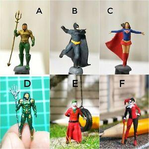 Miniature Figure DC Aquaman, Supergirl, Batman, Joker H0 Scale 1/87 or 1/64