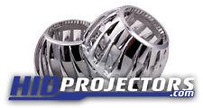 Mini Turbine Shrouds 2.5'' Projector Retrofit x2 Angel Eyes Halos Chrome