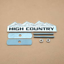 3D Silver HIGH COUNTRY Logo Badge Front Grille Car Emblem Black  letter Accessor