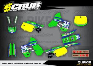 KX500 graphics 1988 - 2004 KX 500 stickers Kawasaki SCRUB decals kit