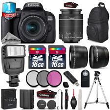 Canon Rebel 800D T7i Camera + 18-55mm IS STM + Flash + EXT BATT + 1yr Warranty