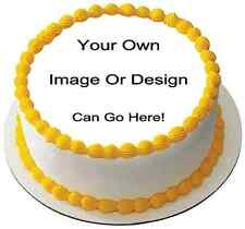 """Your Own Personalised Edible Wafer Paper 7.5"""" Round Cake Topper Photo Decoration"""