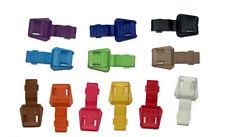 Colorful Plastic End Caps Make Zipper Pulls for 550 Paracord Crafts Bulk