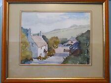 Original Framed Watercolour By J.Benbow Devon Country Scene 10 x 8 Artist Signed
