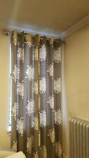 NEW West Elm Set of 2 Panels Long Curtains 48 w x 96 l grey gray ring window