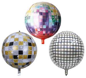 "4D Disco Sphere 22"" inch Orb Round Helium Balloon"