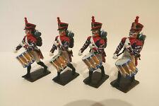Lot de 4 Tambours Empire Soldat Plastique 60mm Segom Historex #55