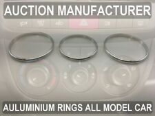 Opel Combo D 2011-2018 Heater Surrounds A/C Control Rings Polished Alloy x3