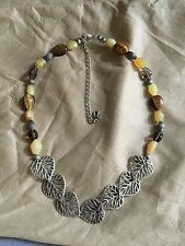 Carolyn Pollack Shades of Yellow and Brown Aspen Collection Necklace