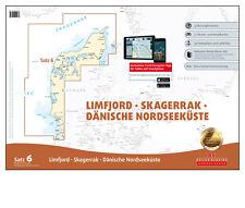 DK Satz 6, Ostsee + Nordsee - Dänemark, Limfjord, Skagerrak # Seekarte 2018 neu