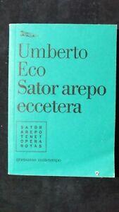 Umberto Eco: Sator Arepo eccetera Edit Nottetempo, 2006