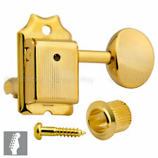 NEW Gotoh SD91-05M STAGGERED Post Vintage Tuners for Fender Strat/Tele - GOLD