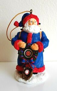 Chicago Cubs Santa Claus Christmas Tree Ornament Memory Company 2001 Official