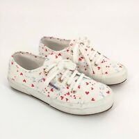 Superga 2750 Je T'aime Sneakers Shoes Women's Size 7 White Printedcotw Hearts