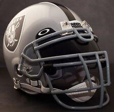 ***CUSTOM*** OAKLAND RAIDERS NFL Riddell Deluxe REPLICA Football Helmet