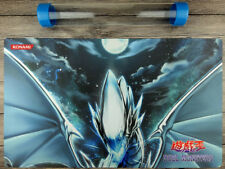 Blue-Eyes White Dragon YuGiOh WCS/WCQ Custom TCG Playmat Free High Quality Tube