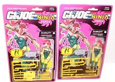 LOT ✰ GI Joe 1991 92 COBRA ARAH ✰ Scarlett ✰ NINJA FORCE MOC figure