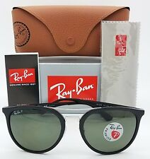 NEW Rayban Sunglasses RB4285 601/9A 55 Black Polarized Green G15 Double Bar 4285