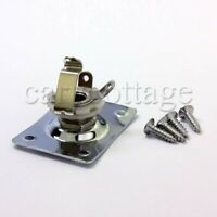 Square Output Jack Plate for Electric Guitar Telecaster Les Paul Length 37mm
