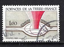 France 1980 Sciences de la Terre n° 2093 oblitéré 1er choix (2)