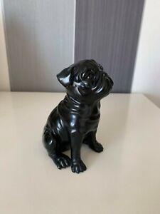 Black Puppy Dog Figurine Ornament Gift Vintage Statue Home Decor Crafts Resin?
