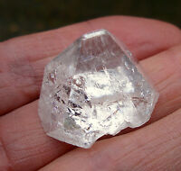 APOPHYLLITE PYRAMID INDIA AA GRADE NATURAL POINT UNPOLISHED 23mm BAG  & ID CARD