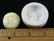 Moon Face Closed Eyes Polymer Clay Mold Beehive Emporium Outlet (#MD1510)
