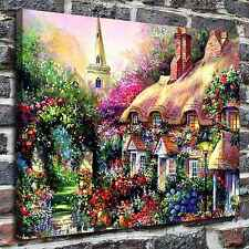 A house in flowers Paintings HD Print on Canvas Home Decor Wall Art Pictures
