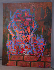 Modern Abstract Steam Punk Oil Painting Darren Bianco Robot Circuitry Futurist