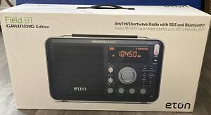 Eton Field BT Grundig Edition AM/FM Shortwave Radio With RDS And Bluetooth