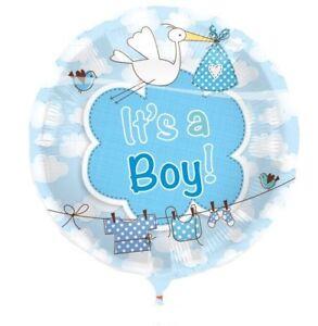 1 Stk. Luftballon Its a Boy 43 cm Party Geburt Deko