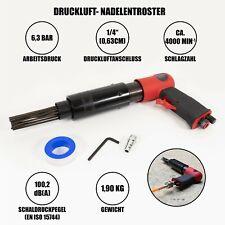 """Druckluft Nadelentroster 1/4"""" Nadelpistole 19 Nadeln ENTROSTER Rostentferner"""