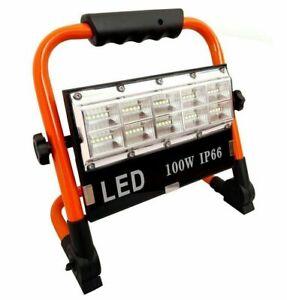 Faro faretto LED 100W batteria ricaricabile portatile torcia da lavoro IP66
