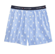 Tommy Hilfiger Xl Woven Boxers Boxer Shorts Blue Button Fly Waist 40-42 New!