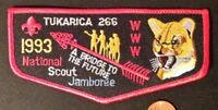 TUKARICA LODGE 266 OA ORE-IDA COUNCIL ID PATCH 1993 JAMBOREE COUGAR FLAP MINT