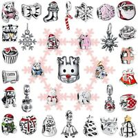 Fashion Holiday Gifts Bead Charms For Brand Women 925 Sterling Silver Bracelets