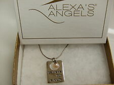 """a Cure"""" Pendant on 16-18""""chain Alexa's Angels Sterling Silver """"Believe for"""