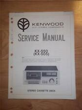 Kenwood Service Manual~KX-550 KX-505 Cassette/Tape Deck/Player~Original Repair