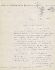 André BRETON Lettre autographe signée à propos de M. DUCHAMP. Surréalisme 1960.